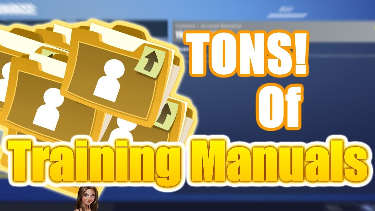 easy training manuals fortnite save the world pve - fortnite save the world training manuals