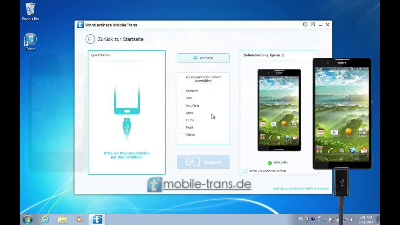 daten von sony xperia auf iphone übertragen