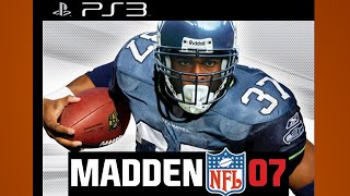 Madden 07 Gameplay Colts Steelers PS3 {1080p 60fps}