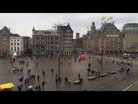 Dam Square - Amsterdam. Time lapse