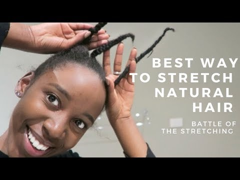 How to Stretch Natural Hair | African Threading, Braid & Twists