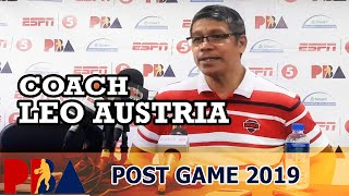 Post-Game: 2019 PBA Philippine Cup - Coach Leo Austria