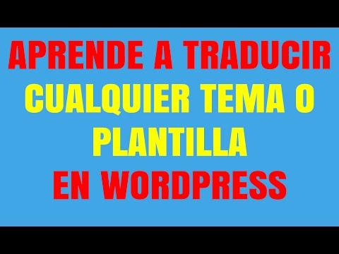 Cómo cambiar el idioma de tu tema en Wordpress - YouTube