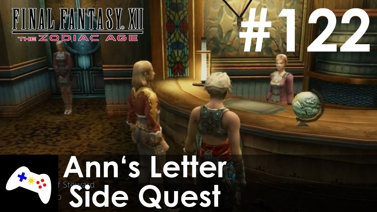 Final Fantasy XII: The Zodiac Age   Ann's Letter Side Quest