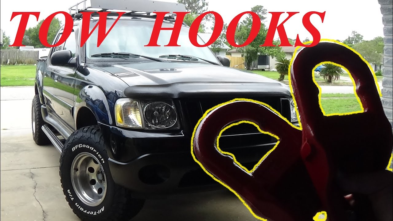 """FORD EXPLORER SPORT TRAC """"TOW HOOKS"""" SUPER EASY INSTALL - YouTube"""