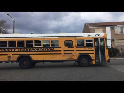 Driving in Detroit, Michigan, U. S. A.