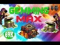 CLASH OF CLANS - $900! GEMMING TO MAX TOWN HALL 10 / GEM SPREE!