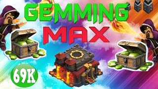"CLASH OF CLANS - $900! GEMMING TO MAX TOWN HALL 10 / GEM SPREE! ""MAX WIZARDS +FUNNY MOMENTS"" EP.10"