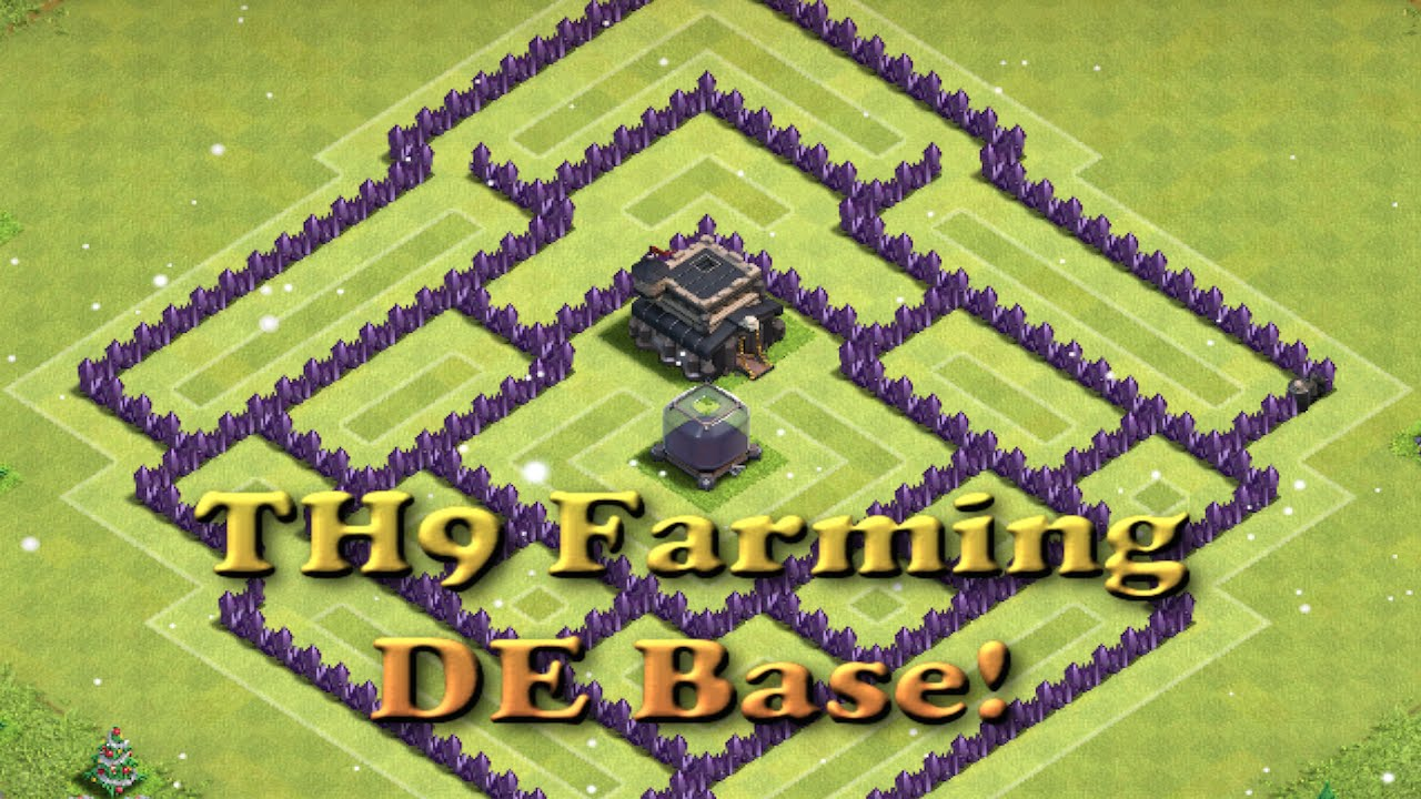 Best 2016 town hall 9 de farming base th11 update dark elixir base