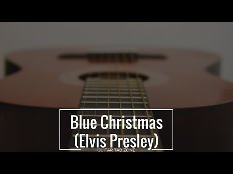 Beginners Guide to Play Blue Christmas by Elvis Presley with Guitar Tab + Lyric