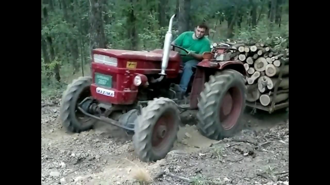 Трактор в лесу под горку @Lazar Lazarevic