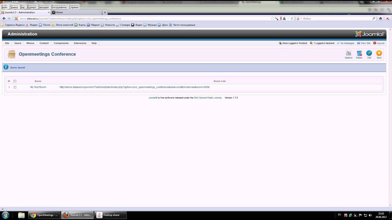Apache OpenMeetings Project – Joomla Plugin