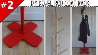 DIY Dowel Rod Coat Rack - Part 2 of 2