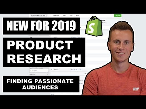 [NEW] Shopify Product Research 2019 | Finding PASSIONATE Audiences thumbnail