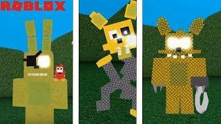 ROBLOX GOLDEN BONNIE, GOLDEN MANGLE AND GOLDEN FOXY ANIMATRONICS! Roblox FNAF Animatronic World!