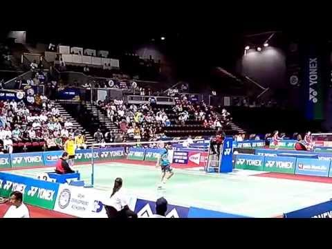 Lee Chong Wei vs P. Kashyap 1/2 | Best Badminton Perfect Angle Match | BWF India Open 2014 MS,QF