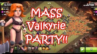 Clash of Clans | Mass Valkyrie In War + Farming + LIVE Attack!!! | Valkyrie Strategy