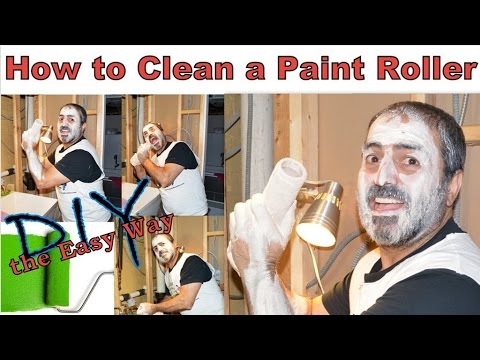 how to clean a paint roller the easy way youtube. Black Bedroom Furniture Sets. Home Design Ideas
