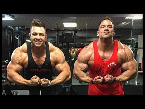 IFBB PRO'S REGAN GRIMES AND Paulo the Freak Almeida TRAIN CHEST - FULL WORKOUT