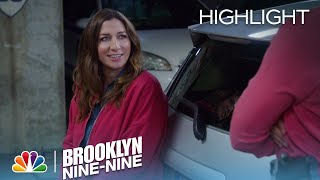 Amy Changes Gina's Tire | Season 4 Ep. 19 | BROOKLYN NINE-NINE