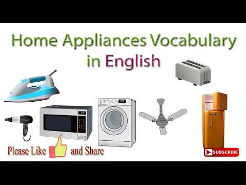Home Appliances Vocabulary In English | Household Appliances Names In English