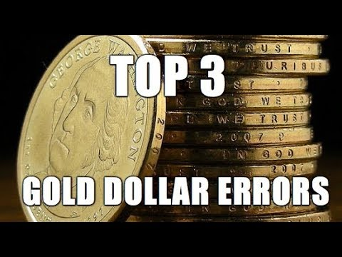 Top 3 Valuable Presidential Gold Dollar Error / Variety Coins To Search For! Coin Roll Hunting