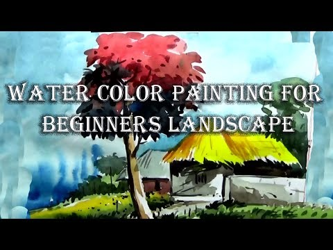 watercolor landscape painting for beginners | Paint with farhad hossain