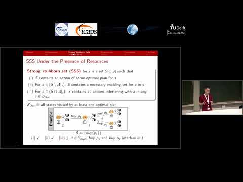 """ICAPS 2018: Marcel Steinmetz on """"On Stubborn Sets and Planning with Resources"""""""