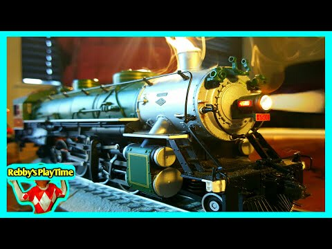 Fun Toy Train With Cool Real Smoke Coming Out For Kids Rebby's PlayTime