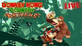 🔴[LIVE] Donkey Kong Country Returns - Wii - Primeira Vez #2
