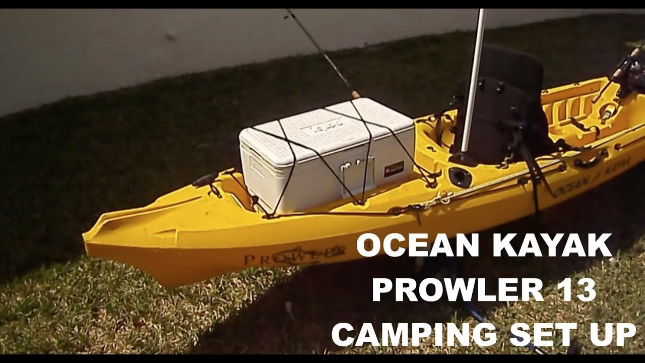 Kayak set up for camping - YouTube