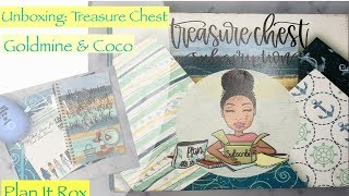 """Unboxing: """"Treasure Chest"""" Subscription Box (Goldmine and Coco)"""