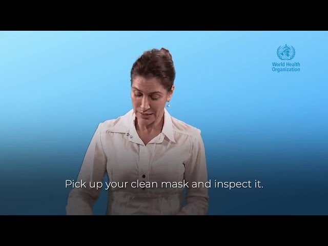 How to wear a fabric mask