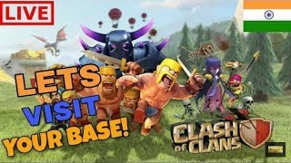 Clash Of Clans live steam base review and channel promotr