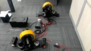 1 1kw 48v Steerable Horizontal Drive Wheel Agv Drive System With Incremental Encoder Youtube