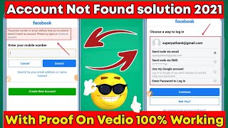 Facebook Account Not Found Problem Solution   No Account Match That Information Solution 2021 screenshot 5