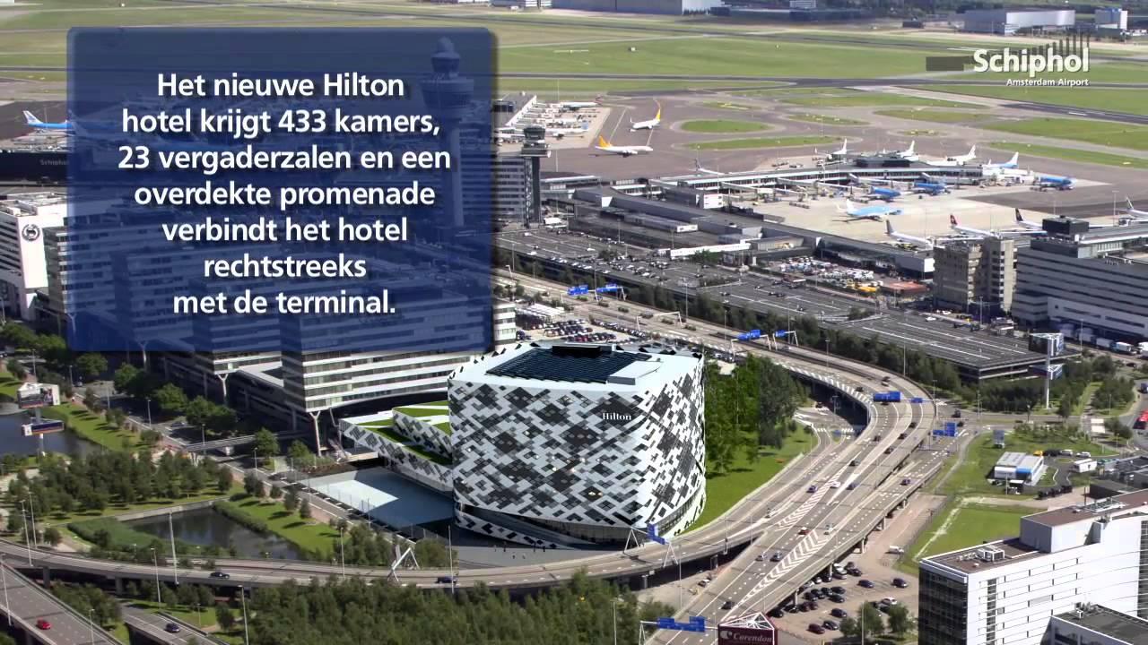 Bouw nieuw Hilton op Schiphol van start - YouTube