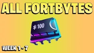 All Fortbytes week 1 - 7 -  Fortnite Season 9