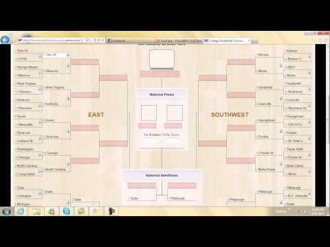 Official 2011 NCAA Men Basketball Tourament Predictions