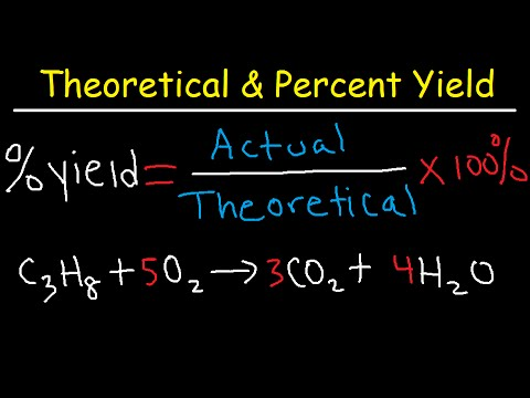 How To Calculate Theoretical Yield and Percent Yield - YouTube