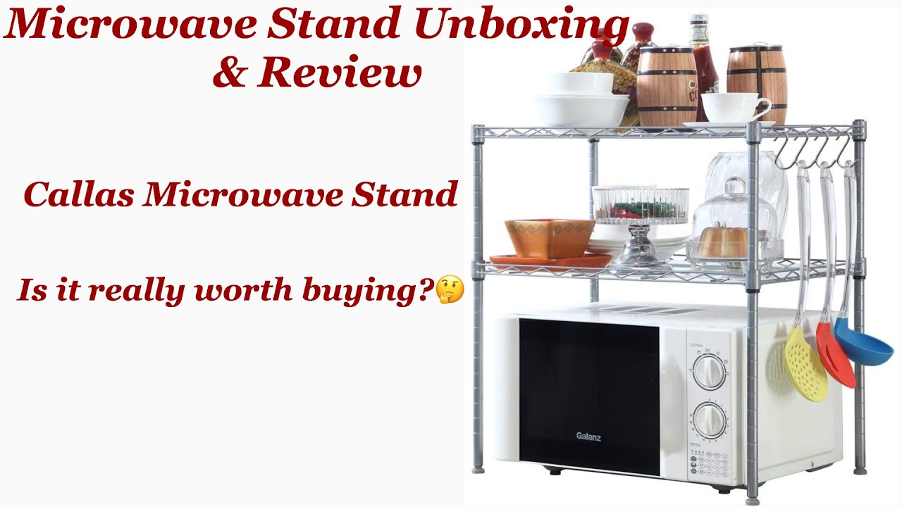 callas microwave stand unboxing review