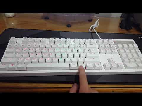 한성컴퓨터 GK638 Optic RGB 게이밍 광축 클릭 키보드 LED 작동 영상