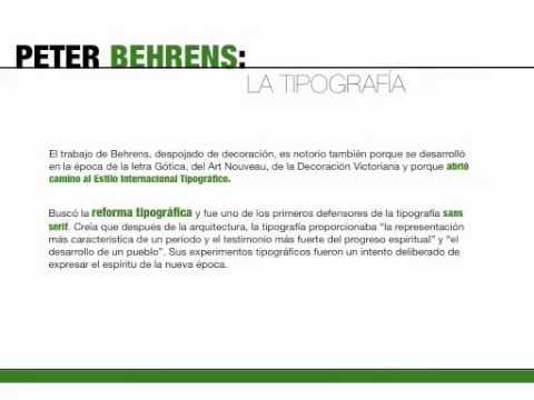 Biografía Peter Behrens