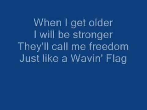 K'naan - Wavin' Flag Celebration Remix - Karaoke - On-Screen Lyrics