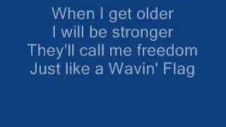 K'naan - Wavin' Flag Celebration Remix - Karaoke - On-Screen Lyrics
