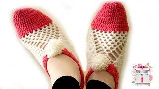 Crochet gift ideas | Easy to make cluster crochet slippers