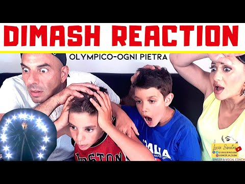 DIMASH Ogni Pietra REACTION OLYMPICO 🇮🇹 Italian Vocal coach & family
