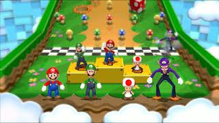 Mario Party 9 Garden Battle -Toad vs Mario vs Luigi vs Waluigi | Cartoons Mee