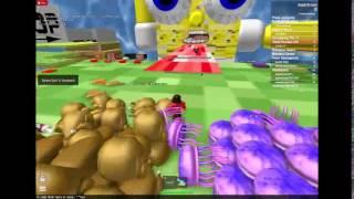 Roblox feed the giant spongbob or get eaten ESCAPE [DEM EYES]