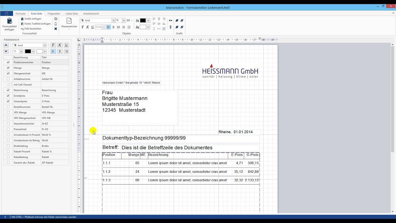 Formular Editor Topkontor Handwerk Version 6 Youtube